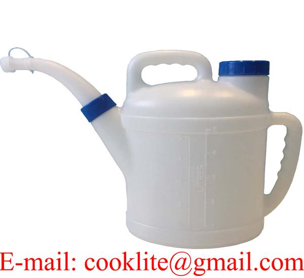 Measuring Jug Oil Brake Fluid Fuel Water Container with Spout and Lid 5 Litres