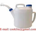 Natural HDPE Rigid Spout Measuring Container 10 Liter Oil Jug