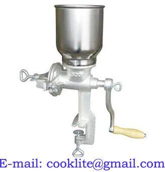 Moedor de milho manual em ferro fundido
