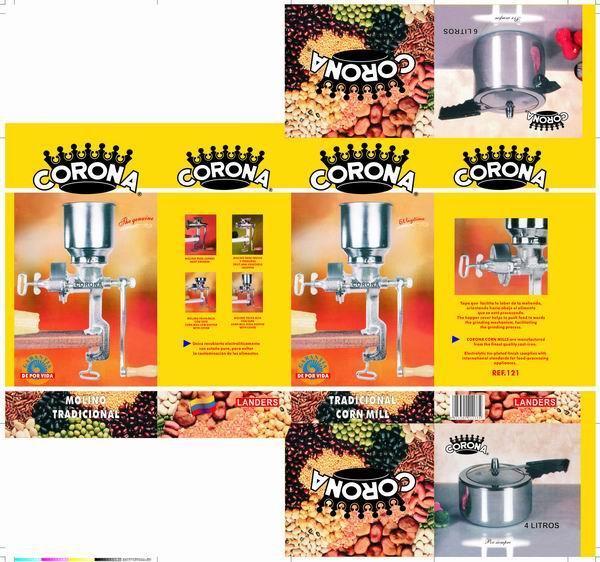 Moinho Moedor Triturador de Cereais de Grãos de Milho de malte Manual