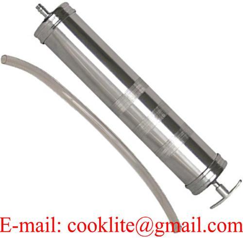 Bomba seringa manual para sucção de óleo 500ml