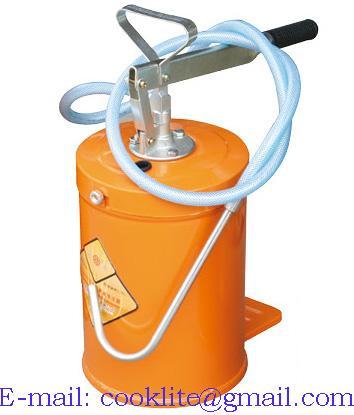 5 Gallon Lubrication Hand Operated Bucket Pump Gear Lube Dispenser 20
