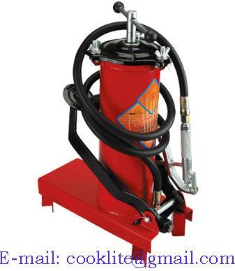 Air Operated Grease Dispenser Pneumatic Lubricator Pump - 12L 10