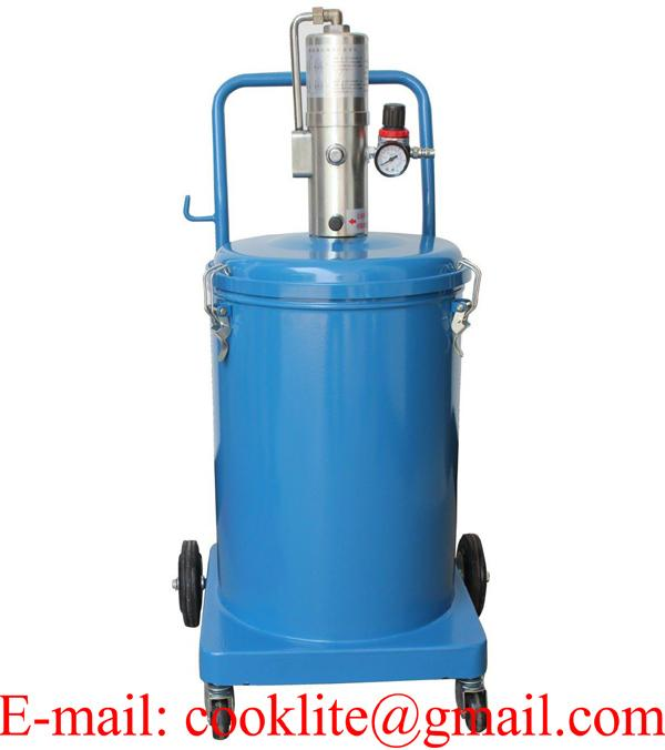 High Volume Oil Grease Bucket Pump Pneumatic Operated Greaser 30 Litre