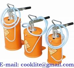 Balde/bomba manual para troca de óleo e câmbio