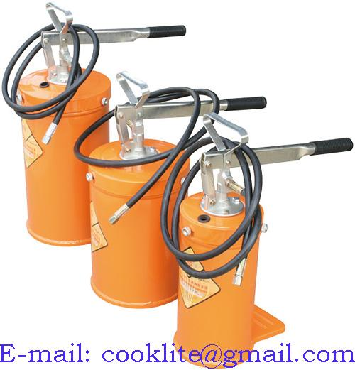 Hand Lever Oil Grease Bucket Pump Portable Lubricator