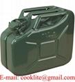 Tanica in metallo per contenimento benzina 10 litri omologata UN