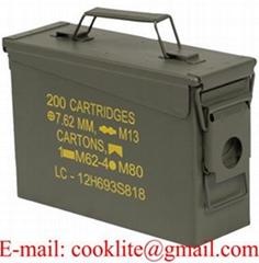 Cassetta in metallo porta munizioni / Scatola portamunizioni