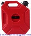 Tanica canestro in plastica omologata carburante benzina con beccuccio flessibile 5 Lt.