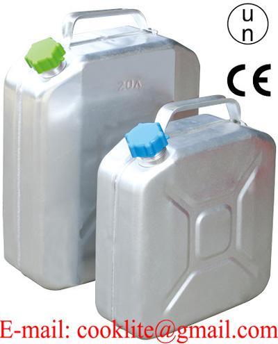 Serbatoio tanica in alluminio 10/20 litri per trasporto acqua e carburanti