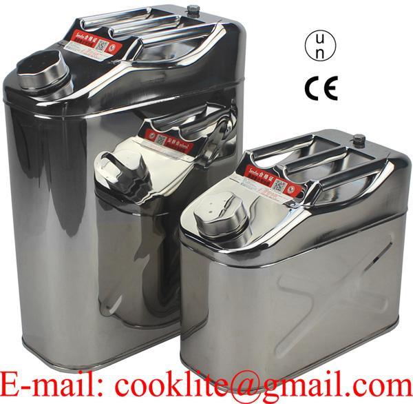 Serbatoio tanica in acciaio inox 10/20 litri per trasporto carburante o acqua