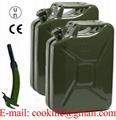Bidón de bencina metálico 20 Litros tanque Jeep militar