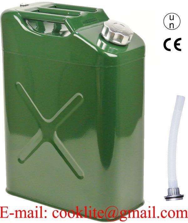 Bidón tanque depósito metálico para transporte de gasolina y combustible 20L