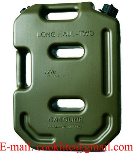 Bidón tanque depósito plástico para gasolina y combustible Homologada 10 Litros
