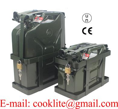 Garrafa metálica 10/20l para combustible con arnes sujetador