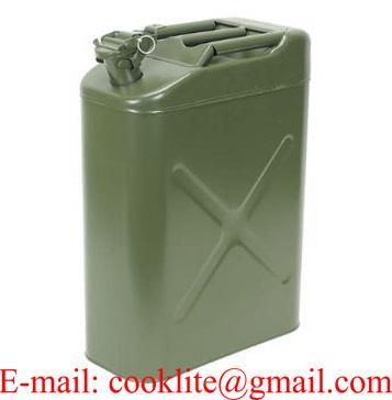 Bidón tanque depósito metálico para carburante y aceite Homologado 20 litros
