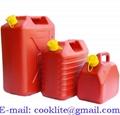 Bidón de plástico para gasolina y combustible con pico Homologado 5/10/20L