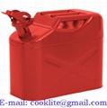 Envase garrafa tanque bidón metálico para gasolina y combustible 10 litros