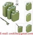 Recipiente militar o envase metálico para transportar gasolina y combustible