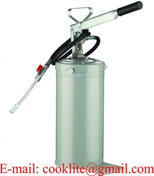 Bomba de engrase pato manual 5kg lubricar / Engrasadora de pie tipo chiva