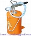 Cubeta con bomba manual para aceite / Pato de lubricación 10 kg con depósito