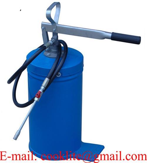 Engrasador de pie y palanca / Cubeta engrasadora manual 16 Litros