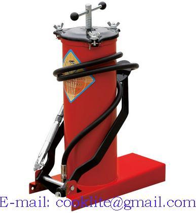 Inyector de grasa con pedal / Pato de engrase con depósito 6kg