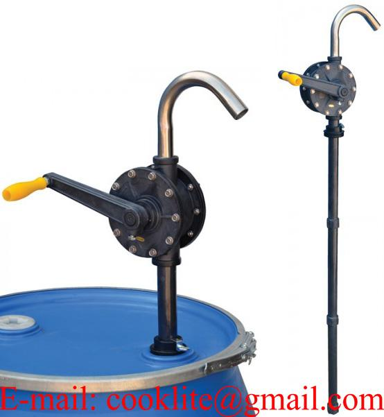 Transfer Refilling Petrol Gasoline Diesel Fuel Foot Pump Kit & Manual Nozzle w/ Hoses