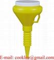 Plastic Funnel with lid and flexible nozzle