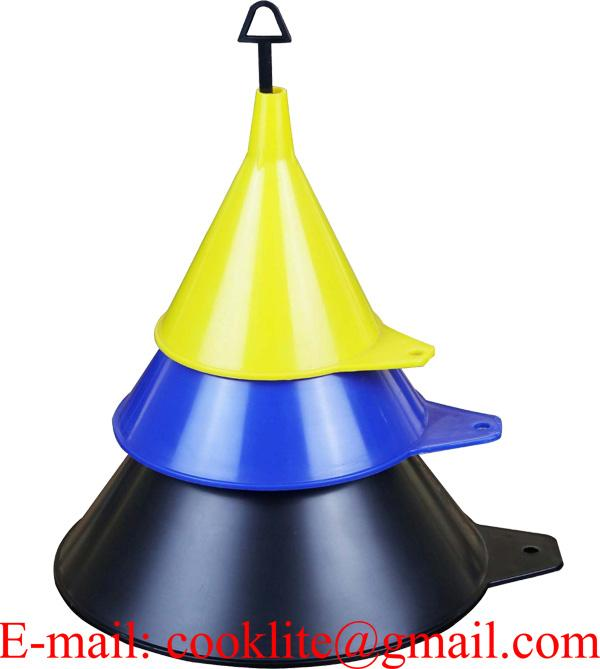 3 Piece Plastic Funnel Set