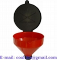 "Waste Oil plastic funnel with cover for 2"" bung"