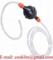 Pompa a sifone con tubo flessibile 180cm aspira travaso benzina liquidi