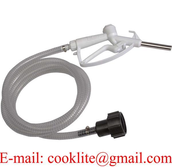 Gravity kit per riempimento manuale da IBC completo di 3m tubo PVC, pistola in plastica ed adattatore per va  ola fondo IBC