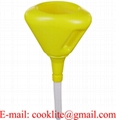 190mm Anti-Spill Fast Fill Funnel with Filter and Flexible Spout