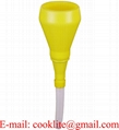 100mm Polythene anti splash funnel with strainer and flexible removable spout
