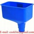 Blue Locking Offset Oil Funnel