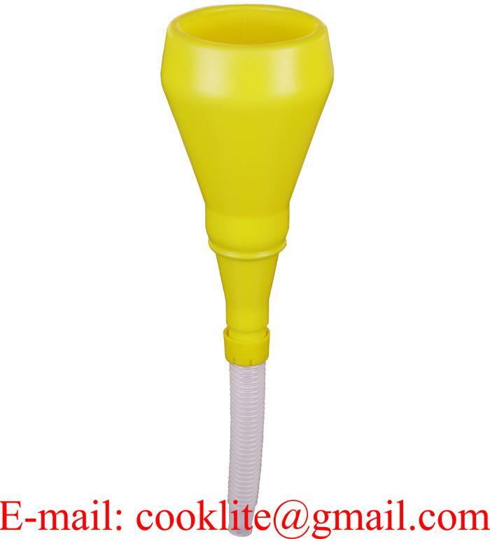 1 Qt Yellow Polyethylene Plastic Spill Proof Drum Funnel