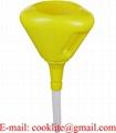 2 Qt Yellow Polyethylene Anti-Spash Drum Funnel