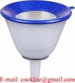 Transparent Plastic Funnel with Filter - Anti Splash 140mm