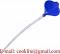 Motorcycle Funnel w/ Soft Pipe Pour Fuel Oil Petrol Vehicle Car Van Blue Plastic
