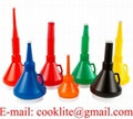 Plastic Funnels with Lid and Spout Cap