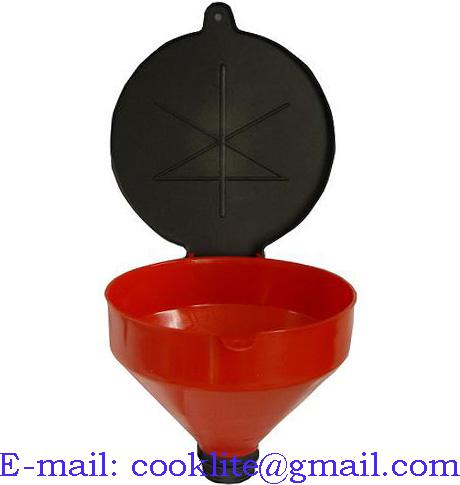 3-Quart Drum Funnel with Hinged Lid