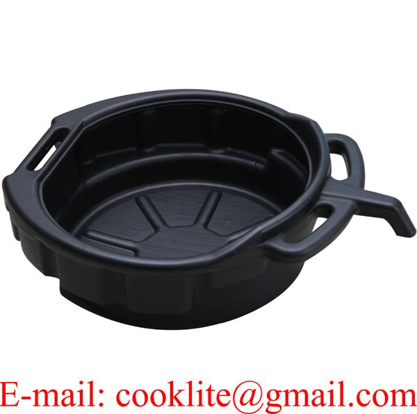 Black Plastic Drain Pan with 10 Liter Capacity