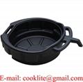Black Plastic Drain Pan with 10 Liter Capacity