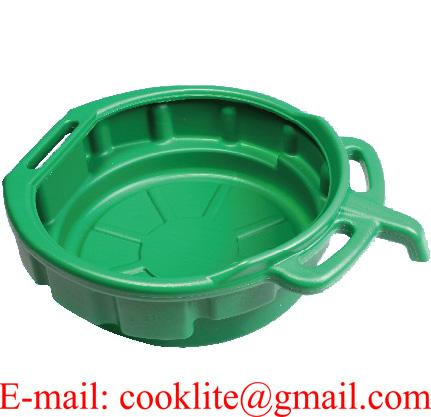 10 Liter Portable Oil Drain Pan, Anti-Freeze, Green