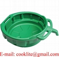 10 Liter Portable Oil Drain Pan, Anti-Freeze, Green