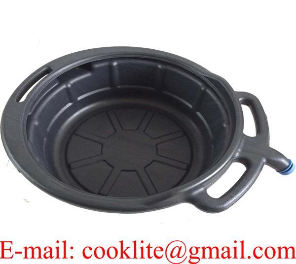 Oil Fluid Fuel Chemical Antifreeze Drain Pan Tray 17 Litre Pouring Lip Spout Car