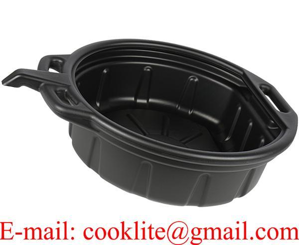 Portable Oil Drain Pan Anti Freeze Anti Splash Lip Molded Handle Polyethylene 15 Litre