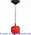 Portable Waste Oil Drain 8 Gal Change Tank Rolling Dolly Adjustable Lift Funnel