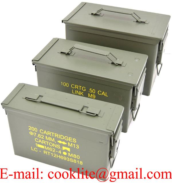 3-Pack Metal Ammo Cans - Airtight and Water-resistant